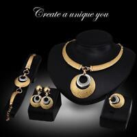 Women's Fashion Jewelry Sets Vintage Choker Pendant Necklace Bracelets BR