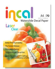 [Incal] Waterslide Decal  Paper- Laser Clear / A4 size (210x297mm) / 70pcs