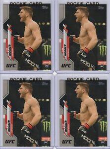 """(LOT 4) DAN """"Hangman"""" HOOKER 2020 Topps """"FLAGSHIP"""" UFC #86 (1st ROOKIE RC) Mint+"""