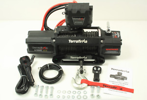 Terrafirma A12000 12v Electric Winch 12,000lb Synthetic Rope - TF3301