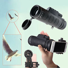 10x40 Hiking Concert Camera Lens Zoom Optical Telescope +Holder For iphone 7 6s