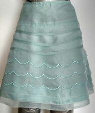 REISS Erin Scallop Silk skirt size 8 --BRAND NEW-- 100% Silk layered
