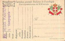 CARTOLINA MILITARE IN FRANCHIGIA 78° RGT FANTERIA LUPI DI TOSCANA C4-458