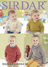 Sirdar 4927 Knitting Pattern Baby and Childrens Sweaters in Snuggly DOODLE DK