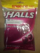 Halls Cough Drops Black Cherry 70ct Big Bag Menthol Sore Throat Sugar Free 2/19