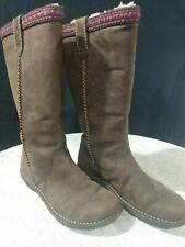 Uggs Australia Womens Suede/Leather Slip On Boots