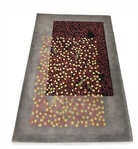 "Lin Onus Rug ""Green Dots And Red Lines""195 Cm.x132 Cm.One Of Two!!"