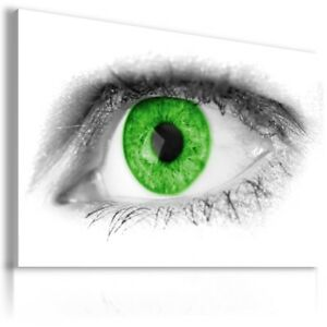ABSTRACT GREEN EYE Canvas Wall Art Picture  AB603 MATAGA  UNFRAMED-ROLLED