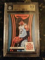 2019-20 NBA HOOPS JA MORANT GRADED BGS 9.5 WE GOT NEXT ROOKIE RC TRUE GEM ROY