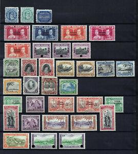 COOK ISLANDS 1893-1949  35 STAMPS