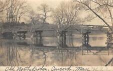 RPPC Old North Bridge, Concord, Massachusetts American Revolution 1909 Postcard