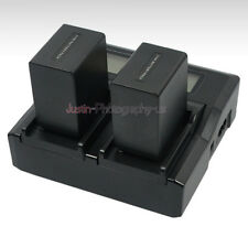 Quick LCD Charger 2x Battery for Sony Np-fv100 Fh100 Np-fv70 HDR DCR Camcorder