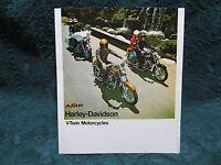 HARLEY DAVIDSON V-Twin Motorcycles Brochure-FX1200/FXE1200/FLH1200/XL & XLCH1000