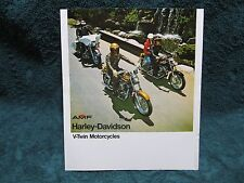 HARLEY DAVIDSON V-Twin Motorcycles Brochure-FX1200/FXE1200/FLH1200/XL & XLCH1000