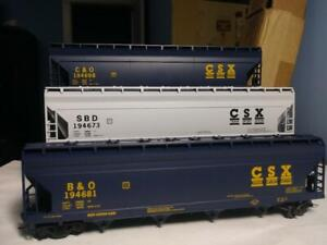 Bev-Bel #1424,1425, 1426, CSX, HO Athearn 3 car, 55' ACF Centerflo Hoppers