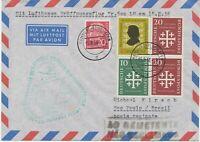 """BUNDESREPUBLIK 1956 Erstflug Deutsche Lufthansa """"HAMBURG – SAO PAULO (Brasilien)"""