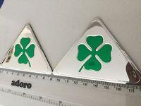 2x Alfa Romeo Quadrifoglio Cloverleaf Wing Badges 90mm