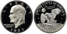 1973 -S GEM  Eisenhower Dollar Proof 40% Silver IKE Deep Cameo