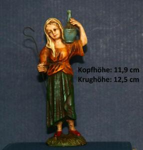 MAROLIN Krippenfigur Hirte Hirtin Pappmachee Masse (passt zu 12cm Figuren)
