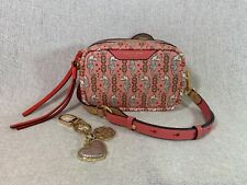 NWT Tory Burch Perry Seahorse Mini Camera Bag + Heart Logo Key Chain $366