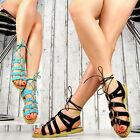 NEUF DE LUXE Sandales pour femmes Espadrilles Chaussures Femme Fête lanière