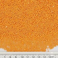 2mm Orange Sugar Balls Shimmer Pearls Natural Cake Decorations Edible Toppers