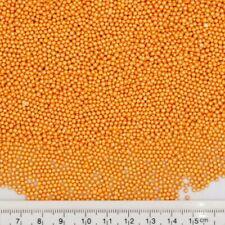 2mm Orange Sugar Balls Shimmer Pearls Natural Cake Decorations Edible Toppers