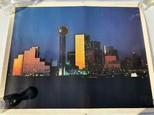 Vintage Dallas Texas Downtown Skyline Panorama Photo Art Print Poster 28x22 inch