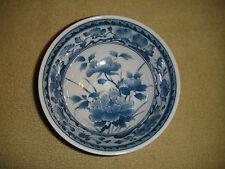 Superb Chinese Or Japanese Blue & White Flower Bowl-Signed Bottom-Lovely Pattern
