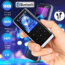 16GB MP3 Player Bluetooth HiFi Bass Musik Spieler 1,8'' LCD Display FM Radio USB
