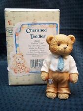"1993 Enesco Cherished Teddies BIG BROTHER ""Child of Pride"" NIB"