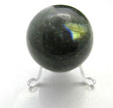 Edelsteine Natur Labradorit Kugel Handschmeichler grün Mineralien 106g