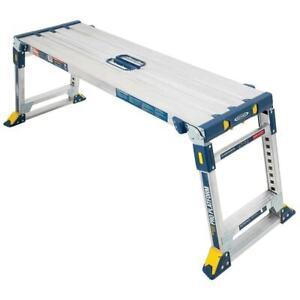 3.91-ft X 3.91-ft Aluminum Adjustable Work Platform With 300 Lbs. Capacity|274