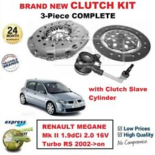 FOR RENAULT MEGANE II 1.9dCi 2.0 16V Turbo RS 2002->on NEW 3PC CLUTCH KIT + CSC
