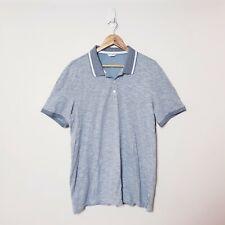 Calvin Klein Mens Size XL Slim fit Grey Striped Collared Polo Shirt t shirt