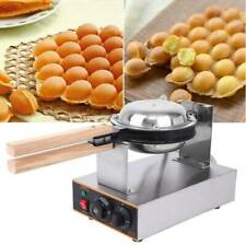Commercial Stainless Electric Egg Cake Oven Puff Bread Maker Waffle Bake Machine