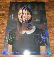 Tool Band Signed Poster Sydney Australia Tour /500 Miles Johnston Feb 18