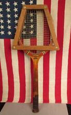 Vintage Dunlop Antique Wood Tennis Racquet Maxply Great Display! w/ Wood Rack