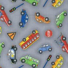 NUTEX 100% cotone tessuto patchwork Craft FQ/metro Rush Hour-sparsi AUTO