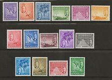 More details for seychelles  sg 158/72  1952 gvi set of 15   superb unmounted mint to 5r.