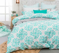 Bambury Ashleigh 300TC Quilt Doona Cover Set SINGLE DOUBLE QUEEN KING Super KING