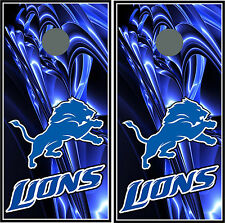 Detroit Lions 0158 Custom Cornhole board game decal wraps bean bag skins