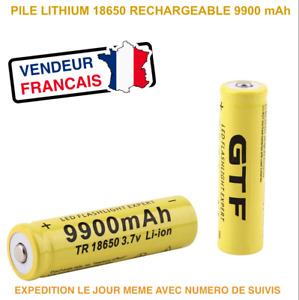 18650 - PILE BATTERIE RECHARGEABLE 9900 mAh LI-ION 3,7 V POUR LAMPE TORCHE...