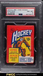 1972 O-Pee-Chee Hockey Wax Pack 1st Series PSA 8 NM-MT