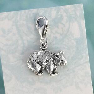 Sterling Silver 925 Australian Wombat Charm, Australian Made