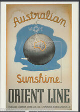 Shipping Advertising Postcard - Orient Line Cruises - Australian Sunshine  A4248