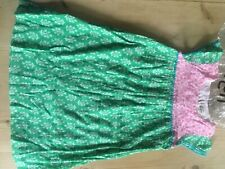 Mini Boden girls crinkle floral green and pink dress age 7 to 8 brand-new in pac