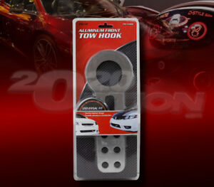 SILVER CNC ALUMINUM FRONT TOW HOOK KIT FOR CAMARO CORVETTE CHALLENGER CHARGER