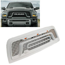 For 10-18 Dodge Ram 2500 3500 Painted White Front Bumper Grille W/LED Letters
