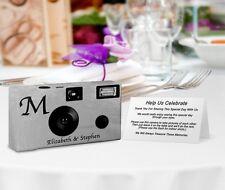 20 Monogram Silver Foil Disposable Cameras-wedding camera/anniversary (F60146)
